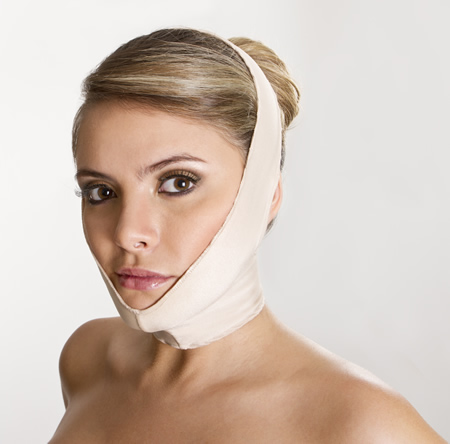 Colombian Postsurgical Body shapers and Girdles - Face Lift Bandage - Comfort Face Wrap