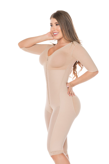 Salome Post Surgical Colombian Shapewear - Salome Girdle 0524-C liposculpture with bra and sleeves