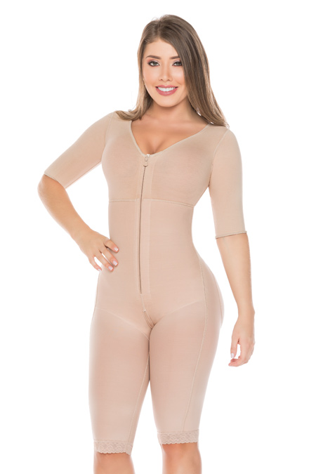 Salome Post Surgical Colombian Shapewear - Salome Girdle 0526-C liposculpture with Bra and sleeves