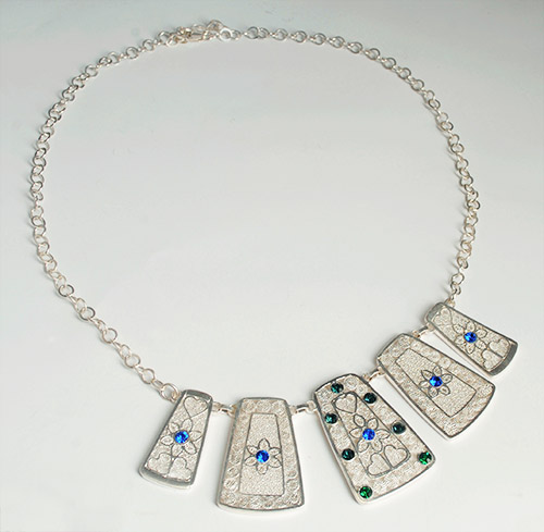 Colombian Silver Filigree - Silver Colombian Filigree Necklace