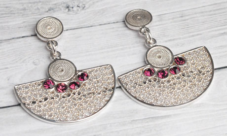 Colombian Silver Filigree - Silver Mompox Filigree Earrings