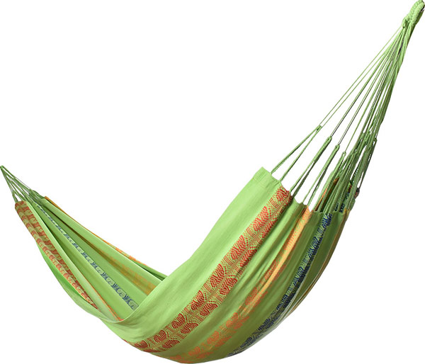 Typical Colombian Hammocks - Traditional Green Colombian Hammock