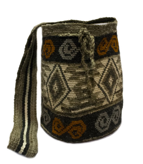 Misak People Colombian Mochilas - Spiral Misak Mochila bag