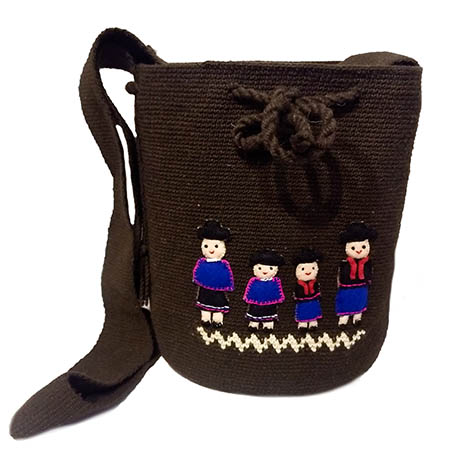 Misak People Colombian Mochilas - Family Misak Mochila bag