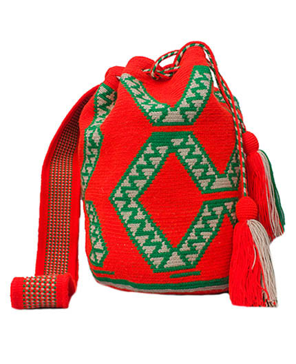Colombian Wayuu Mochila Bags Online sale - Orange Wayuu Mochila Bag