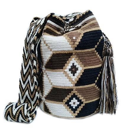 Colombian Wayuu Mochila Bags Online sale - Wayuu Mochila Bag in brown earth tones