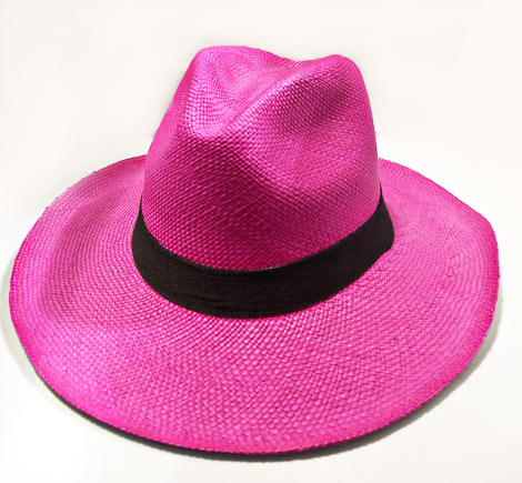 Typical Sandona Colombian Hats - Fuchsia Sandoneño Hat