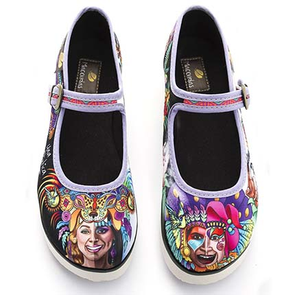 Woman Casual Shoes - Classic shoe for woman Carnival of Negros y Blancos