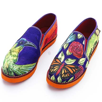 Woman Casual Shoes - Woman Moccasin shoe Graffiti