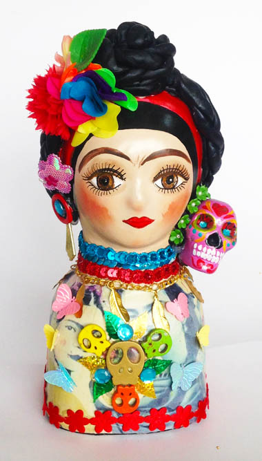 Estatuilla Frida Kahlo en Cerámica