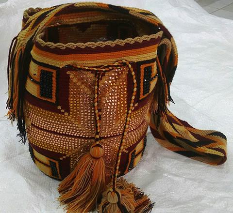 Mochila Wayuu con Lentejuelas