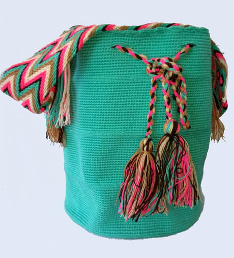 Mochila Wayuu Verde Aguamarina