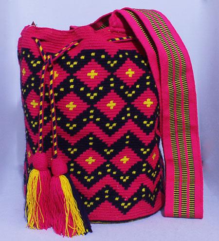 Mochila Wayuu  Fucsia