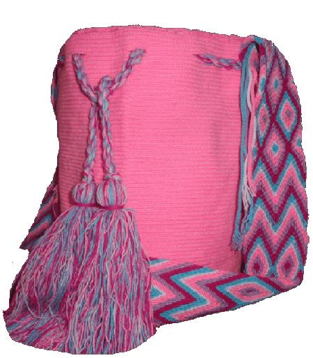 Mochila Wayuu Rosada