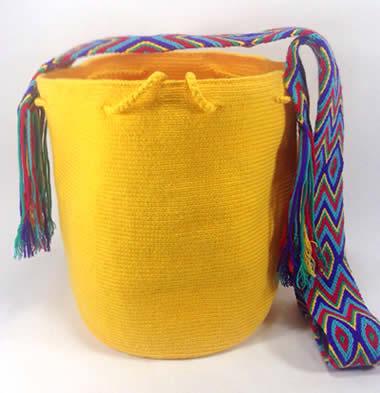 Mochila Wayuu Amarilla