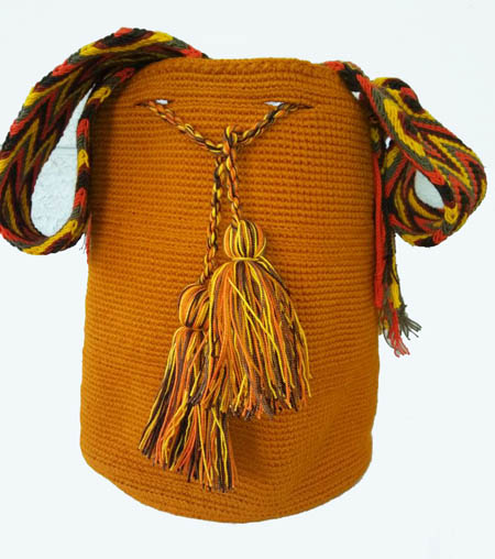 Mochila Wayuu Mostaza