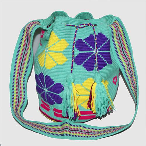 Mochila Wayuu grande Verde Menta