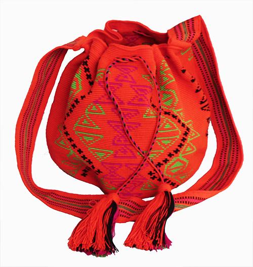 Mochila Wayuu grande Naranja