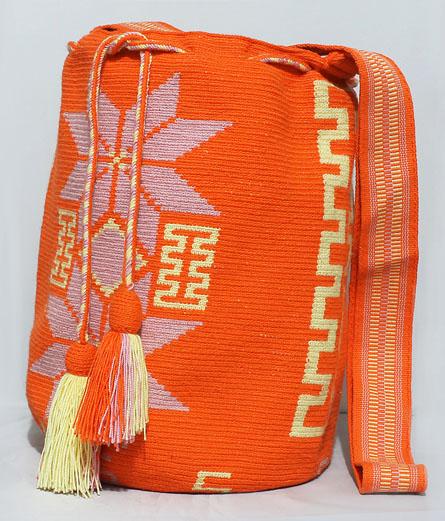 Mochila Wayuu Naranja