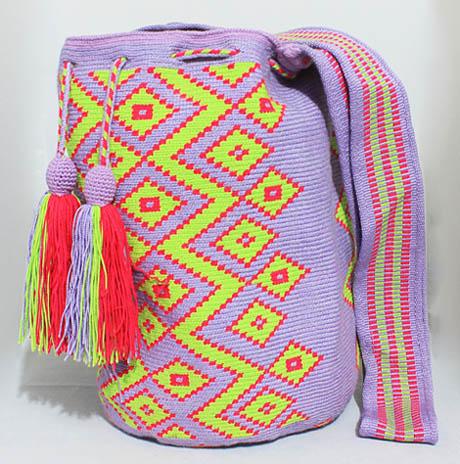 Mochila Wayuu mediana Flor