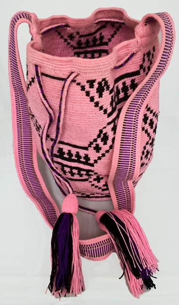 Mochila Wayuu Rosada Pequeña