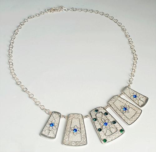 Collar Filigrana Momposina en Plata